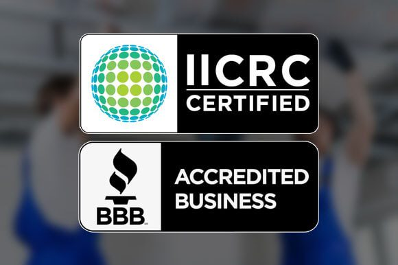 We Are BBB Accredited and IICRC Certified