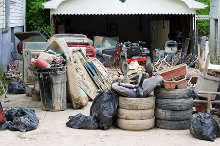 Clean up debris and check items that you can still save