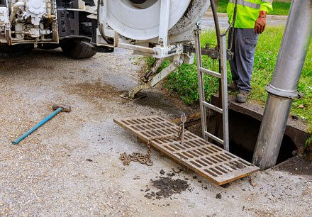 DWESR Checking the Sewage with equipment